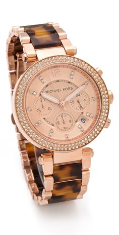 "I am not into designer items strictly for status...but this Watch is GORGEOUS!   Definetly adding to my ""wish list"".    Michael Kors Parker Glitz Chronograph Watch"