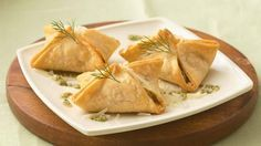 Salmon Pastries with Dill Pesto; yummy looking appetizer