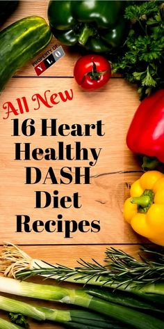 The DASH diet for a healthy heart is a great diet plan not a weight loss plan. East healthy and increase hearth health with these easy 16 DASH diet recipes. Dash Diet Meal Plan, Dash Diet Recipes, Diet Meal Plans, Lunch Recipes, Recipes Dinner, Breakfast Recipes, Meat Recipes, Dessert Recipes, Heart Healthy Diet