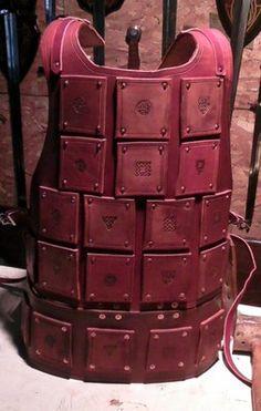 Brigandine  Heavy leather  SCA. LARP, Knight, Medieval, Armor, Steampunk