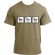 THE BIG BANG THEORY INSPIRED PERIODIC TABLE 'BEER' HIGH QUALITY NERDY T SHIRT