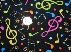 Rainbow Music  Fabric By The Yard by TheFabricFox on Etsy, $8.95