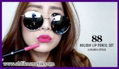 4.Bibir Terawat pakai 88 Holiday Lip Pencil