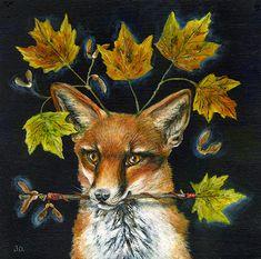 Janie Olsen   ACRYLIC   Autumn Vixen
