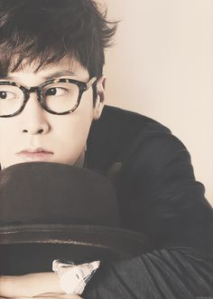 Jung Yunho <3 he looks so handsome with glasses on. B-)