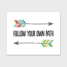 Arrow Print 8x10 Instant Download Follow Your by MossAndTwigPrints