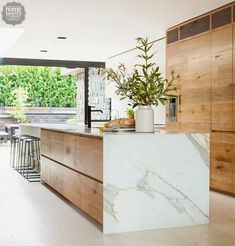 Waterfall marble countertop