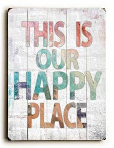 With a cool vintage feel, this Happy Place Wood Sign will add style to your space and a smile to your face.