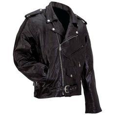 Diamond Plate™ Rock Design Genuine Buffalo Leather Motorcycle Jacket