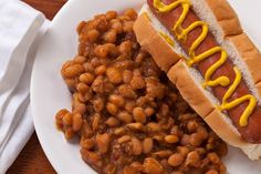 Ignore the gross wiener in Wonderbread.  Baked beans are pretty magnificent, with or without meat in the crockpot.