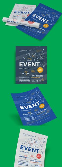 Schedule Event Poster Template AI, EPS Flyer Templates - advertising poster templates
