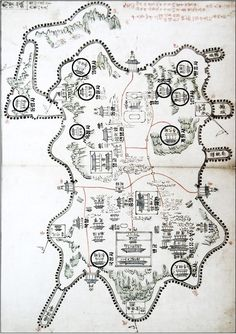 China Map, Fantasy Map, History Class, Old Maps, Cartography, Geography, Civilization, Beast, Korean