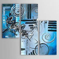 【今だけ☆送料無料】 アートパネル  抽象画3枚で1セット ブルー ブラック ホワイト 渦巻き デザイン【納期】お取り寄せ2~3週間前後で発送予定