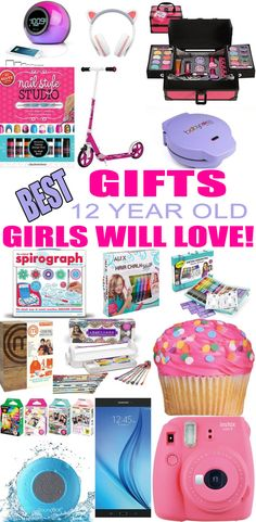 Top Gifts For 12 Year Old Girls! Best suggestions for gifts & presents for a girls twelfth birthday, Christmas or just because. Find the best gifts, makeup, beauty, cooking, baking, electronics, games, room decor for a girls 12th bday or Christmas. Get the best gift ideas now!