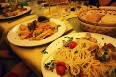 Food in Italy! Delicious.