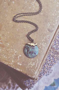 globetrotter necklace by bellehibou on Etsy