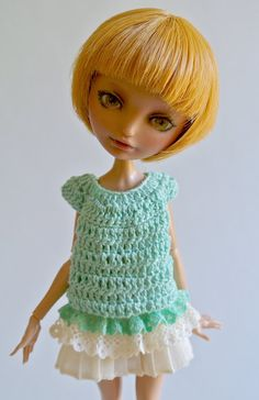 Custom Cerise doll & Mint Outfit by Morpalier