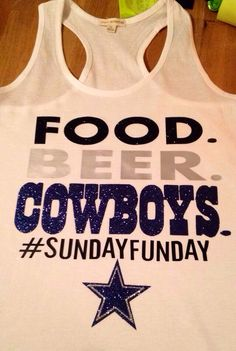 Dallas Cowboys Sunday Funday Tank by AMariesDesigns on Etsy https://www.fanprint.com/stores/fight-club?ref=5750