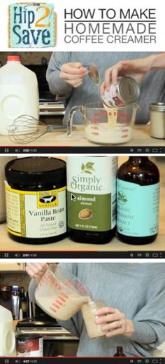 Video: How to Make Homemade Coffee Creamer (With Only 2 Ingredients! Coffee Menu, Coffee Date, Coffee Break, Coffee Drinks, Cozy Coffee, Coffee Syrups, Sweet Coffee, Coffee Barista, Coffee Poster