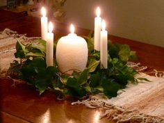 Advent wreath. Advent, Advent, A Little Light Shines, First one, then two, then three, then four, then the Christ Child at the door!