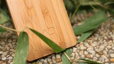 world's first bamboo smartphone by AD creative Smartphone, Sustainable Living, Bamboo Cutting Board, First World, Eco Friendly, Ads, Creative, Crafts, Eco Products