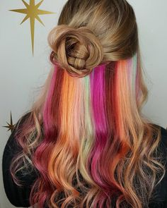 hair hidden rainbow