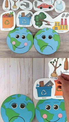 Happy Earth sad Earth sorting activity. Great Earth Day game for preschoolers, kindergartners and older kids. Learn abot environmentally friendly and polluting actions. #happyearthsadearth #earthdaycraft #earthdaycraftsforkids #sortingactivity Earth Day Preschool Activities, Toddler Learning Activities, Art Activities For Kids, Kindergarten Science, Spring Activities, Preschool Crafts, Art For Kids, Earth Craft, Earth Day Crafts