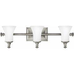 Hinkley 5833AN          Three-Light Bathroom Light Fixture