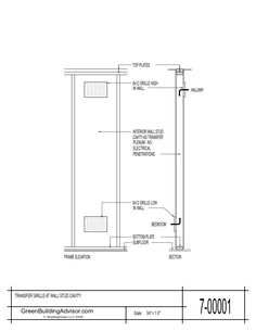 This drawing shows high-low transfer grilles; it's from the GBA Construction…