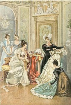 Josephine receives a new gown.