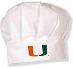 $12 Who made the burgers? They won't have to ask as you don your Miami logoed chef's hat for your next tailgate. One size fits most.