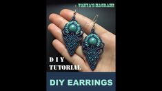 DIY MACRAME EARRINGS WITH BIG BEAD. Hello from me! This time Ill show you a bit intricate earrings. I made them a couple of times in different colors. I hope you like them as much as I like them. You can find my creations Macrame Knots, Macrame Jewelry, Macrame Bracelets, Crystal Jewelry, Crystal Earrings, Diy Jewelry, Jewelry Making, Loom Bracelets, Friendship Bracelets