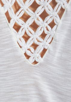 INDAH Halo Macrame Kimono Tee in White at Revolve Clothing - Free Shipping!