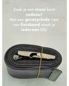 Stercrafts makes its products from recycled materials. Like this belt made of bike Innertubes.