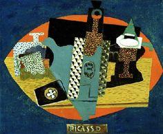 Pablo Picasso, 1916, L'anis del mono (Bottle of Anis del Mono) oil on canvas, 46 x 54.6 cm, Detroit Institute of Arts, Michigan - Pablo Picasso - Wikipedia, the free encyclopedia