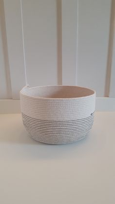 Made to Order Large Color Blocked Rope Pot by PrairieStMercantile on Etsy https://www.etsy.com/listing/246539858/made-to-order-large-color-blocked-rope