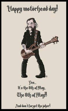 Happy Motörhead day! Motorhead Ace Of Spades, Metal Health, Heavy Metal Art, Bored At Work, Power Metal, Rock Posters, Metal Artwork, Rock Legends, Black Sabbath