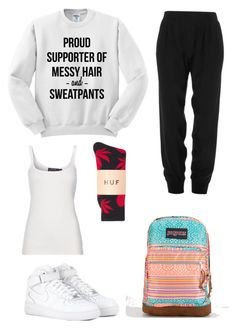 Sweatpants ! by claudiadarcy101 on Polypore featuring polyvore, fashion, style, Polo Ralph Lauren, ATM by Anthony Thomas Melillo, HUF, NIKE and JanSport. I hope you like the set ! Follow and like to see more !   Instagram : _polyvore_fashionista101_ Polyvore : claudiadarcy101
