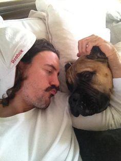 George Parros and his dog, Ramis (Source: Hockey Players, Dog, Pets, Animals, Diy Dog, Animais, Animales, Animaux, Doggies