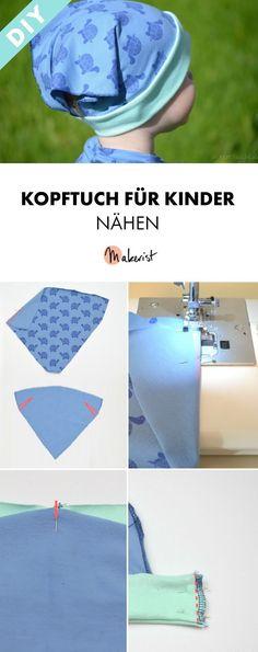 Kopftuch/Mütze für Kinder selber nähen - gratis Nähanleitung via Makerist.de