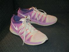 new product 95e2e dbaa6 Nike Flyknit Lunar 2 Women s Running Shoes Size 8.5 Lilac   Purple 620658-001