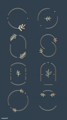 Floral logo design collection on a aegean blue background vector Design Beauty Design Food Design Hand Design Hipster Design Imagotipo Inspiration Logo Design, Webdesign Inspiration, Logo Branding, Branding Design, Brand Identity Design, Typography Logo Design, Logo Floral, Floral Design, Freundin Tattoos