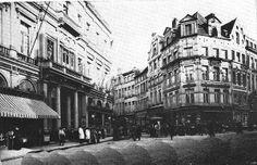 Rue de la Montagne met Galeries Saint-Hubert in 1907