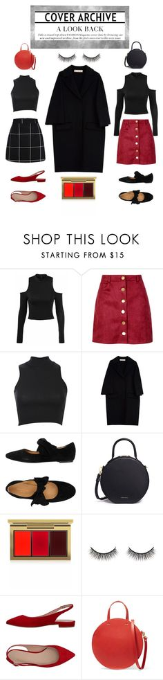 Two outfits, one coat by finleywaf on Polyvore featuring Pilot, Marni, Boohoo, Marian, Mansur Gavriel, Clare V., MAC Cosmetics and Battington