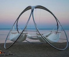 Triple Hammock from Trinity Hammocks - Design Milk Outdoor Hammock, Hammock Swing, Portable Hammock, Diy Hammock, Backyard Hammock, Hammock Chair, Hammock Beach, Hammock Bathtub, Gardens