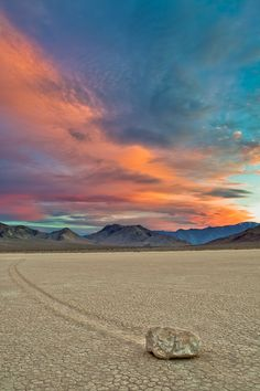 Mysterious Sailing Stones in Death Valley National Park