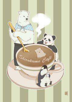 Shirokuma Café ~~ Check out this brilliant casting ... Polar Bear :: Takahiro SAKURAI // Panda :: Jun FUKUYAMA // Penguin :: Hiroshi KAMIYA