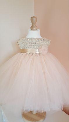 vestido vestido de ganchillo crochet yugo vestido princesa