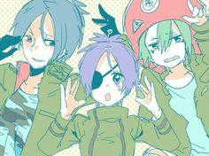 Mukuro, Chrome, and Fran ♪ (In the manga young Flan had a crush on Chrome...)
