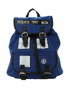 Doctor Who TARDIS Medium Slouch Backpack, , hi-res